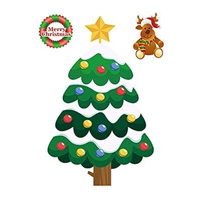 byjapp 2019 statische Weihnachts-Aufkleber, Weihnachtsmotiv, für Glas, Fenster, statische Aufkleber, Farbe A2