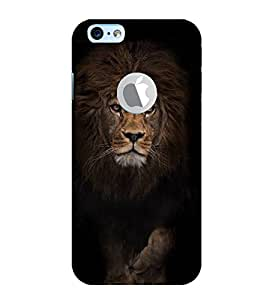 Fiobs Designer Phone Back Case Cover Apple iPhone 6S (Logo View Window Case) ( Lion Front Look Attitude Look )