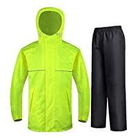 BALALA BIAN Hooded Lightweight Cycling Tourist Cycling Suit Split Raincoat Suit Outdoor Raincoat Lightweight And Portable