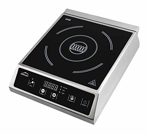Lacor 69337 Placa inducción 2000 W, 5.4 kg, Negro