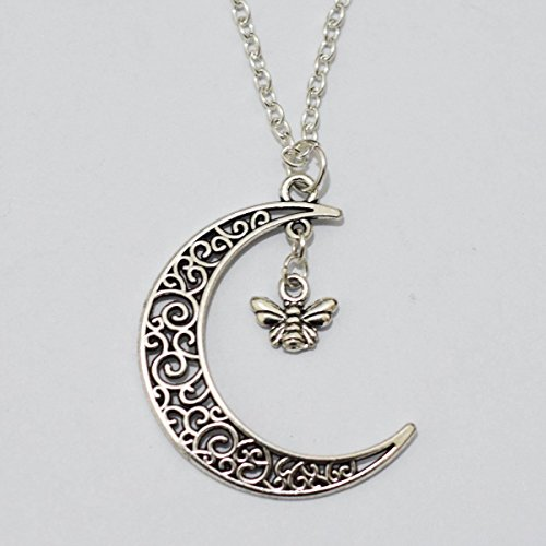 charm-moon-and-cute-bee-necklace-crescent-moon-bee-necklacebee-moon-necklace-jewelry-necklace