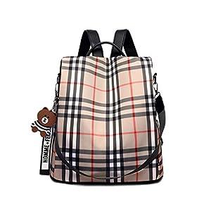 4123LQY40wL. SS300  - JOJYO Mujer Bolso Mochila, Antirrobo Mochila de Moda Backpack Daypack Shoulder Mochila Escolar Casual Bolso de Hombro…