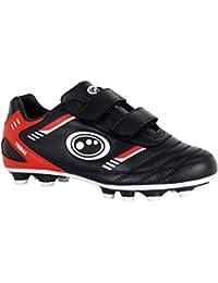 Optimum Tribal Velcro Moulded FG Kids Football Boot Black/Red