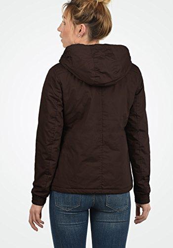 DESIRES Tilda Damen Übergangsjacke Jacke gefüttert mit Kapuze, Größe:XS, Farbe:Coffee Bean (5973) - 5