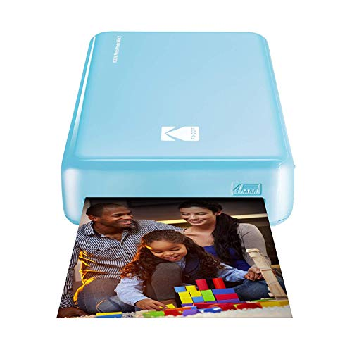 Kodak Mini 2 HD Wireless Mobile Instant Fotodrucker w / 4 Pass patentierte Drucktechnologie (Blau) - Kompatibel mit iOS & Android-Geräte - Echte Tinte in Einem Instant - Kodak 10 Tinte Drucker