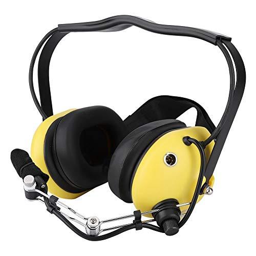 Mugast Aviation Pilot Headset, Universal Headset mit verstellbarem Kopfbügel und Air Rear Hanging Headset mit Mono Audio Lautsprechern, Rauschunterdrückung und GA Doppelsteckern - Electronic Noise Cancelling Aviation Headset