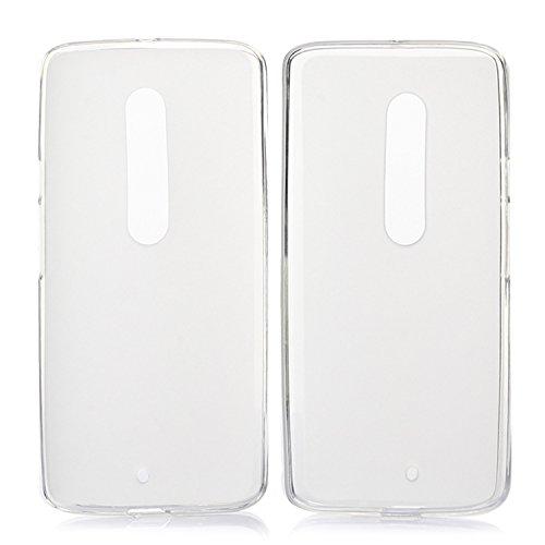 tinxi® Coque Motorola Moto X Play(5,5 Pouces) Coque de protection en silicone TPU pour Motorola Moto X Play case cover housse étui coque Matte Translucide (blanc laiteux)