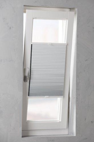Plissee verspannt weiß thermo Isoliert Breite wählbar 40 - 120cm Länge 130cm - Klemmfixbefestigung möglich (120 x 130cm)