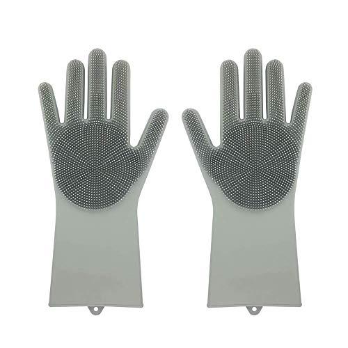 Un par de guantes de silicona reutilizables