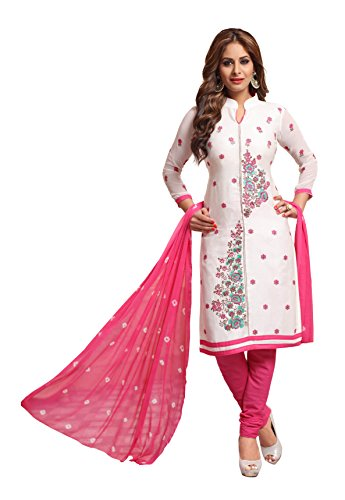 Oomph! Women's Unstitched Cotton Salwar Suit Dupatta Material - Daisy Light