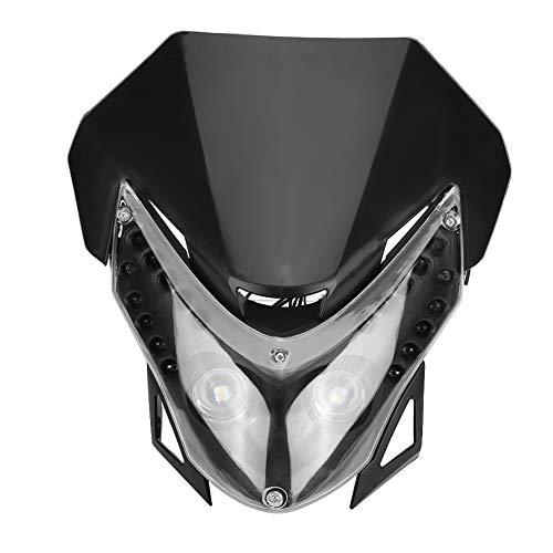 KIMISS DC 12V Indicatore Faro alogeno per motocicli, Faro Motore a LED 10W Luce carenatura Personalizzata per Moto, Street Fighter Sport, Universale