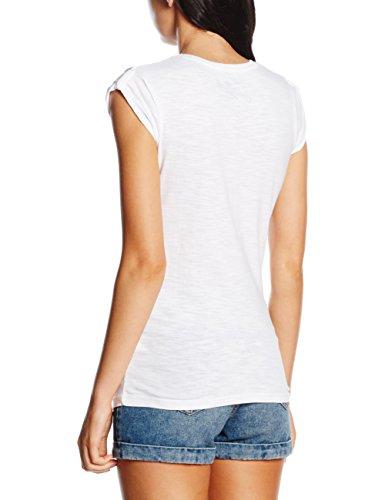 MC2 Saint Barth Damen Jolie-Woman T-Shirt Front Print weiß (Bianco / Rosa - SEND1)