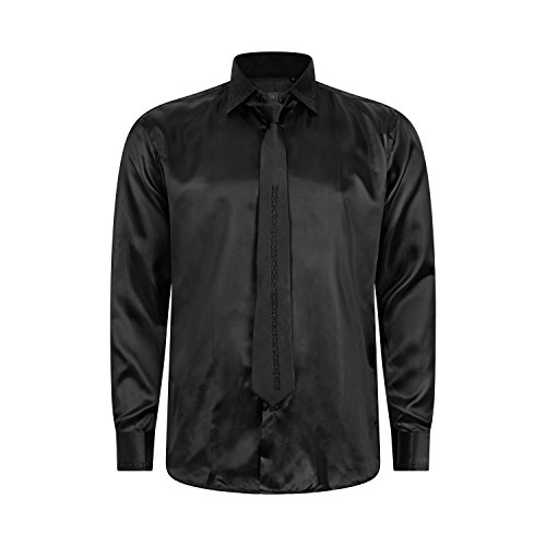 Robelli Herren Detail Plain Kleid Hemden/Hemd & Krawatte Kollektionen - Qualitäts Baumwolle oder Satin Style No 14004