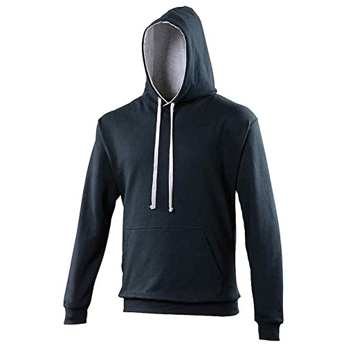 AWDis Herren Kapuzenpullover Gr. XXL, New French Navy/Heather Grey - Wayne Lil Xxl