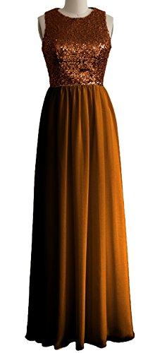 MACloth - Robe - Trapèze - Sans Manche - Femme Rouge - Bronze