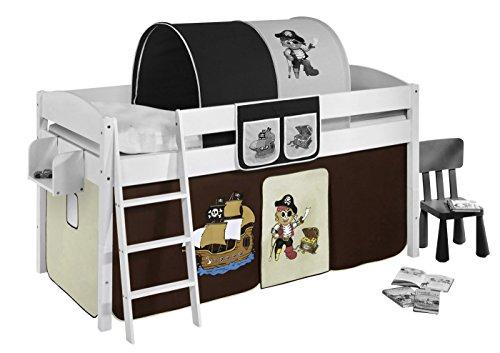 Vorhang Pirat Braun Beige - für Hochbett, Spielbett und Etagenbett
