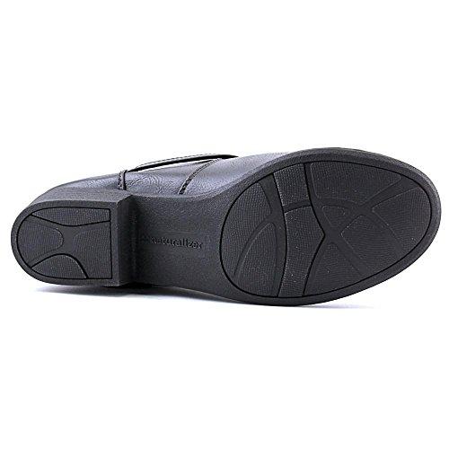 Naturalizer Veracruz Rund Kunstleder Mode-Knie hoch Stiefel Black