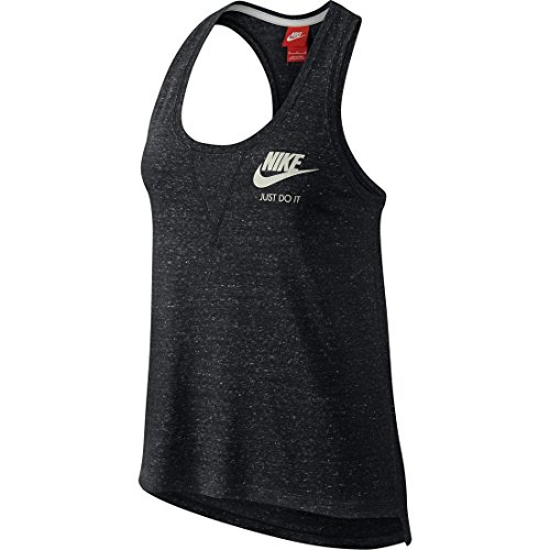 Nike W Nsw Gym Vntg Tank Canotta, Anthracite/Sail, S