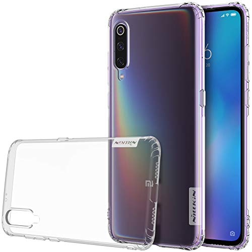 Nillkin Nature - Funda Compatible con Xiaomi Mi 9 Carcasa de Silicona [Antideslizante] Bumper de Gel TPU [Ultra Fina] Clear View - Transparente