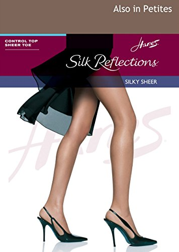 Hanes Silk Reflections Control Top Sheer Toe Pantyhose Town Taupe