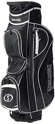 "Spalding SC35, Bolsa de carro para palos de golf, color negro/blanco, talla 8.5"""