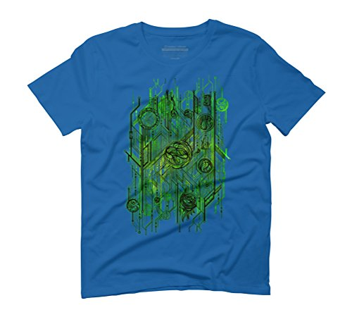 Zen Doodle Digital Circuit Green Men's Graphic T-Shirt - Design By Humans Royal Blue