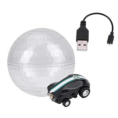 Dilwe Stunt Spielzeugauto, Mini Spin Auto Licht 360 Grad Rotation Fahrzeug mit tragbaren transparenten Kugel Spielzeugauto Geschenk für Kinder( Grün)
