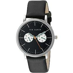 Ted Baker Herren-Armbanduhr Analog Leder Schwarz TE1097