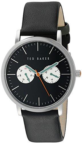 Ted Baker TE1097 - Reloj para hombres, correa de cuero color negro
