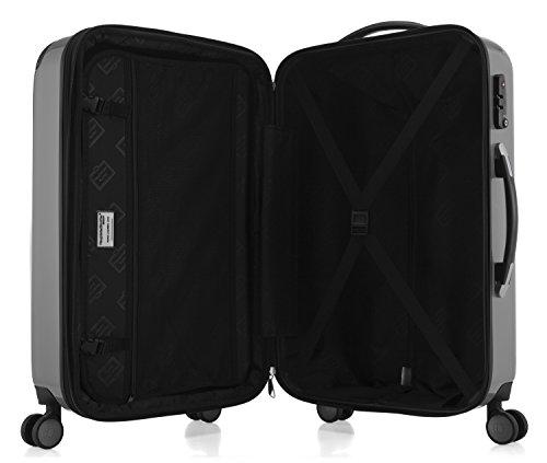 HAUPTSTADTKOFFER - Alex - NEU 4 Doppel-Rollen Großer Hartschalen-Koffer Koffer Trolley Rollkoffer Reisekoffer, TSA, 75 cm, 119 Liter, Silber - 5