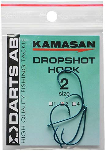Darts Kamasan Drop Shot Haken 5 Stück Dropshot Blau Größe 4
