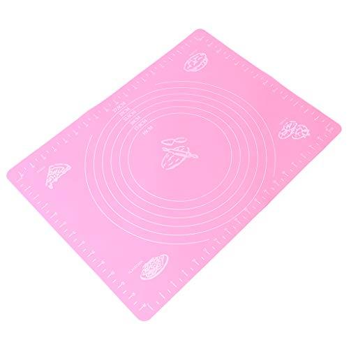 Lamdoo Extra große Antihaft-Backmatte aus Silikon zum Backen von Gebäck mit Maßangaben - Rosa (Leidenschaft Für Das Backen)