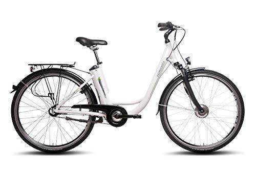 """Hawk Unisex– Erwachsene E-Bike Deep-Z, 7-G, weiß, 28"""", 5,8 Ah, Zoll"""