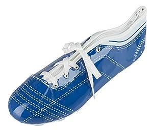 Idena 20083 - Estuche Escolar en Forma de Zapato con Cordones, Escuela, la Universidad y la Oficina, Aprox. 23 x 7,5 x 8 cm, Azul y Blanco, Multicolor