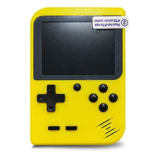 QQYOUXIJI Handheld-Spielekonsole Für Kinder Retro Mini SUP-Spielekonsole 168 Spielekonsole Für Kinder (Farbe : Gelb)