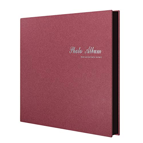 FOOHAO- Albums photo avec des pages collantes, Albums de famille d'affaires minimaliste, Album de voyage Creative bricolage fait à la main, 25 Pages (50Surface) (Couleur : A-Black card)