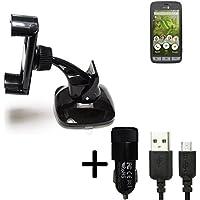 K-S-Trade Dockingstation f/ür Doro 8031C Docking Station Micro USB Tisch Lade Dock Ladeger/ät Charger inkl Kabel zum Laden und Synchronisieren schwarz