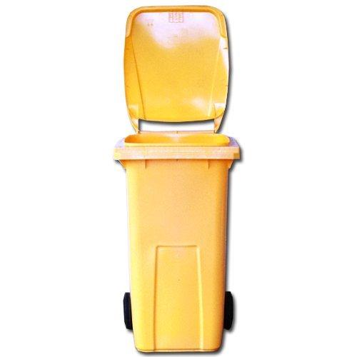 Mülltonne - Müllbehälter - Abfalltonne 120 liter EN 840-1 in gelb