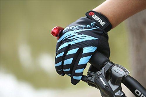 Lerway Winter MTB Handschuhe Gepolstert Race Fahrrad Handschuhe Sporthandschuhe für Radsport ,Outdoor Sport Mountainbike Damen und Herren Gloves (XL, Blau) - 5