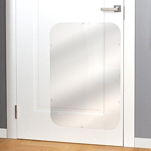 PETFECT Tür-Kratzschutz für Innen & Außen, transparent (90x 60 cm)