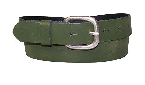 Fron Hofer Cintura Donna Uomo 4 cm cintura in pelle opaca ARGENTATE CINTURA FIBBIA