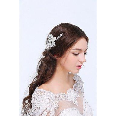 Zormey pour femme Argenté/Alliage/Perle d'imitation/Oxyde de zirconium Coiffe–Mariage/occasion spéciale Pince à cheveux 1pièce