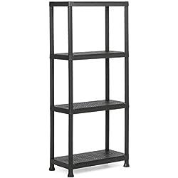 KETER | Etagère Plus 60/4, Noir, Shelves, 12.4777183600713x74.2871428571429x2244 cm