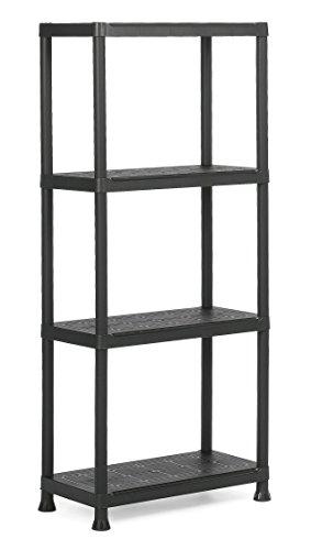 Keter 9503000 0022- Étagère Plastique Noir 60/4-60 x 30 x 135 cm