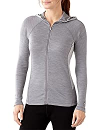 Smartwool Damen NTS Mid 250 Full Zip Hoody – Licht Grau Heather