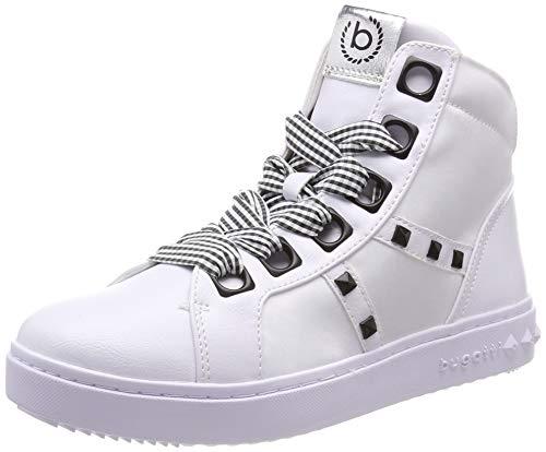 Bugatti Damen 432636305969 Hohe Sneaker, Mehrfarbig (White/Black 2010), 42 EU - Flache Sneaker Boot
