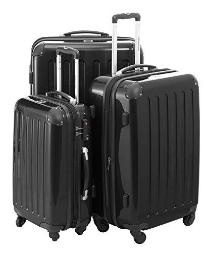 HAUPTSTADTKOFFER 3er Hartschalen Kofferset · Handgepäck 45 Liter + Koffer 87 Liter + Koffer 130 Liter · Hochglanz · TSA Schloss + Design Kofferanhänger ·...