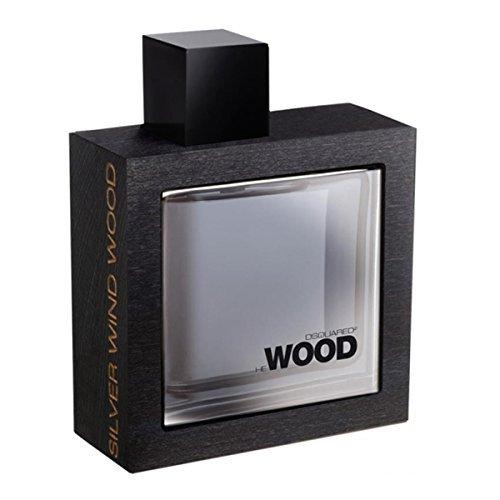 Dsquared2 He Wood Silver Wind Wood Eau de Toilette Spray for Men, 1.7 Ounce