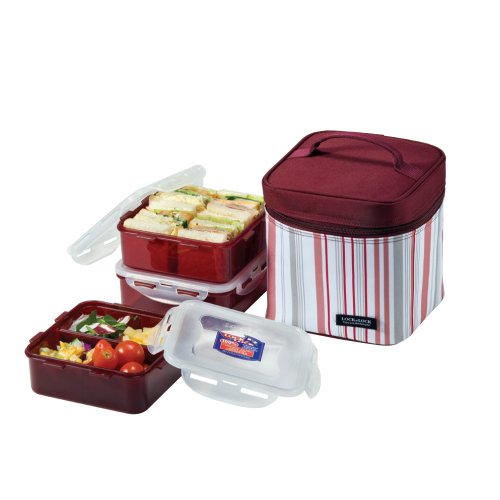 lock lock picnic lunch box bento set hpl823dp purple stripe small at shop ireland. Black Bedroom Furniture Sets. Home Design Ideas