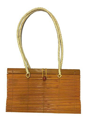 Tasche aus Bambus im japanischen Stil, Umhängetasche Orange
